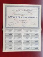 Rare Action 100 Francs 1932 Petit Niçois Journal Nice Seulement 8000 Actions - Ohne Zuordnung