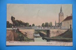 Blaton 190?: Le Pont Du Canal Très Animée En Couleurs - Bernissart