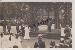 57 - THIONVILLE - CARTE PHOTO - VISITE DU KAISER GUILLAUME 2 EN PRESENCE DU MAIRE MR BOEHM - CARTE RARE - Thionville