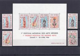 Senegal 1966 - 1st World Festival Of Negro Arts -  Minisheet + Stamps 4v - Complete Set - MNH** - Excellent Quality - Senegal (1960-...)