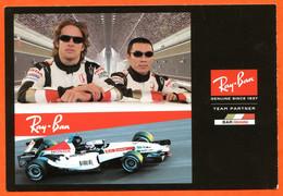 Carte Pub RAY BAN Team Partner Bar Honda Formule 1 - Advertising
