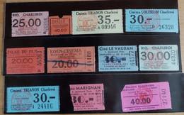 Tickets D'entrée Des Anciens Cinémas De Charleroi - Tickets D'entrée