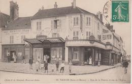 77 - NANGIS - RUE DE LA POTERIE ET RUE DE L'EGLISE - Nangis