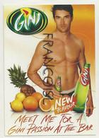 """Carte Boomerang. Publicité Pour """"GINI"""". New Flavour. Ananas, Citrons Et Oranges - Publicidad"""