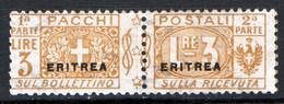Eritrea 1916 Pacchi Postali Sass.7 **/MNH VF/F Cert.R.Diena - Eritrea