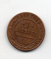 RUSSIE : 1 Kopeck 1869 - Russia