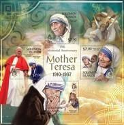 SOLOMON ISLANDS 2013 SHEET MOTHER TERESA NOBEL PRIZE Slm13313a - Islas Salomón (1978-...)