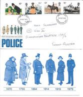 1713i: Guter Motivbeleg- FDC Great Britain: Police, Serie Aus 1979 - Politie En Rijkswacht