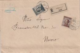 Siniscola.1911. Annullo Guller SINISCOLA *SASSARI* Su Lettera Raccomandata  Affrancata Con C. 15 + C. 40 Michetti - Storia Postale