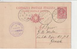 Sorgono.1911. Annullo Guller SORGONO (CAGLIARI), Su Cartolina Postale. Timbro : ... PREMIATI PRODUTTORI IN SUGHERO ... - Storia Postale