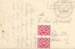 ÖSTERREICH NACHPORTO 1950 - 2x30 Gro Nachporto Auf Ak UNTERACH Gelaufen V. Unterach > Wien ... - Errores & Curiosidades