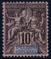 ✔️ Nouvelle Calédonie 1892 - Mouchon Groupé - Yv. 45 ** MNH - Neufs