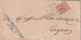 Sili.1913. Annullo Guller SILI (CAGLIARI), Su Lettera Affrancata Con C. 2 - Storia Postale