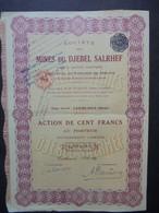 MAROC - CASABLANCA 1928 - STE DES MINES DU DJEBEL SALRHEF - ACTION DE 100 FRS - PEU COURANT - Hist. Wertpapiere - Nonvaleurs