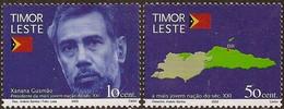 East Timor , 2002 , Complete Series , Timor Leste , Xanana Gusmão , Map - Osttimor