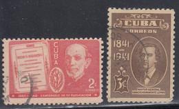 Cuba, Scott #364, 373, Used, Gutierrez, Loynaz, Issued 1940-42 - Used Stamps