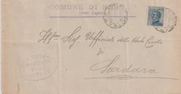 Narcao . 1924. Annullo Guller NARCAO  *CAGLIARI* + Ovale SINDACO ...., Su Lettera Affrancata C. 25 Michetti - Storia Postale