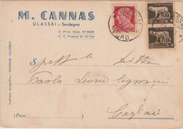 Ulassai. 1941. Annullo Guller ULASSAI *NUORO*, Su Cartolina Postale PUBBLICITARIA Affrancata Imperiale - Storia Postale