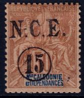 ✔️ Nouvelle Calédonie 1900/1901 - Mouchon Groupé Surcharge N.C.E. Et Valeur - Yv. 56 * MH - Nuovi