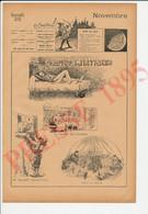 2 Vues 1895 Humour Militaire Nourrices Jardin Des Plantes Soldat Nourrice Métier Bébé Transport Fiacre Tandem ? 237CH14 - Zonder Classificatie