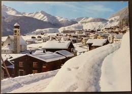 Ak Schweiz - Disentis - Dorfpartie Gegen Den Oberalp - Pass - Winter - GR Grisons
