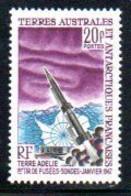 TAAF, Postes 23 ** Terre Adélie, 1er Tir De Fusées-sondes - Janvier 1967 - Französische Süd- Und Antarktisgebiete (TAAF)