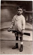 Photo Originale Portrait De Gaston Gouzau Et De Sa Carabine En 1919 - Identifizierten Personen