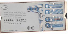 """CARD PUBBLICITA' """"ACCIAI UGINE""""TORINO 1935 MISURATORE 4 FORME TONDO QUADRATO ESAGONO OTTAGONO 2 SCANNER -2-0882-29673-74 - Machines"""