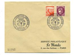N 376 + 736 Sur Enveloppe Exposition Industrie Puteaux - 1921-1960: Modern Period