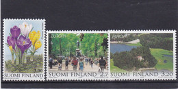 Finlande 1999 Cat. Yvert N°1439/41 **  Crocus  Et Europa  Parcs Naturels Nationaux - Finland