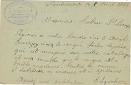 1899 / Entier Carte Commerciale IGERSHEIM / Menuiserie / 88 Remiremont Vosges / Cachet Convoyeur Bussang Epinal - Autres