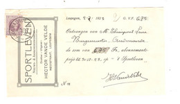 REF2090/ TP 198 Albert Houyoux S/Reçu De 6,75 Frs Rédigé De Leupegem De Sportleven C.Audenaerde 2/7/1923 - Brieven En Documenten