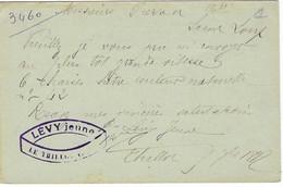 1897 / Entier Carte Commerciale LEVY Jeune / Meubles / 88 Le Thillot Vosges - Autres
