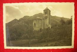 66 Sahorre Rare Carte-photo église Et Clocher éditeur Glaser Phot Perpignan Dos Scanné - Otros Municipios