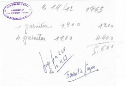 1963 Petit Reçu BERTOLDI / Broderies / La Frison / Par Clairey Hennezel / 88 Vosges - Autres