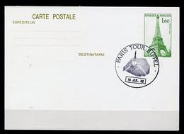 Lil3D88 Paris Tour Eiffel PAP YvT 48 Cachet Comm GF 10 Juillet 1982 - 1980-1989