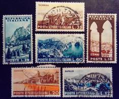 Italie Italy Italia 1953 Tourisme Turismo Yvert 664-669 O Used Usato - 1946-60: Usados