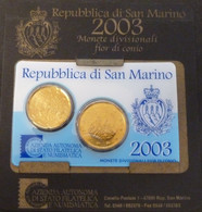 San Marino - Euro 2003 - 2 Pièces  20 C Et + 50 C    Neuve Sous Blister, - San Marino