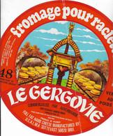 ETIQUETTE DE FROMAGE  NEUVE  LE GERGOVIE RACLETTE BRIX - Cheese