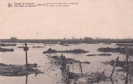 "Ruines De Dixmude 1914-18 - ""Un Brave"" Dans Les Inondations - Diksmuide"