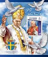 SOLOMON ISLANDS 2015 SHEET POPE JOHN PAUL II PAPE JEAN PAUL PAPA JUAN PABLO POPES PAPES PAPAS RELIGION Slm15114b - Solomon Islands (1978-...)