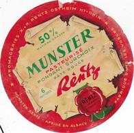 ETIQUETTE DE FROMAGE MUNSTER RENTZ Vosges En L'état - Cheese