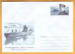 2008 Moldova Moldavie  95 Years.  Marinescu  Marinesco Marinecko  Submarine. Envelope. - Submarines
