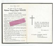 DD 385. EDOUARD-HUBERT RENIERS  Echtg. L. Smets - °HOELEDEN 1918 / + Vliegtuigongeval  Nabij RIETI (Italië) 1955 - Devotion Images