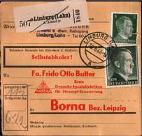 ! 1943 Limburg A.d. Lahn Nach Borna, Bogenrand, Paketkarte, Deutsches Reich, 3. Reich - Cartas