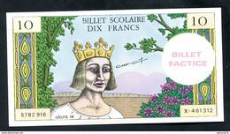 """Billet Scolaire Pour école """"10 Francs Louis IX"""" Billet Factice - School Bank Note - Specimen"""