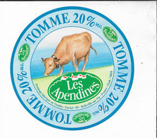 ETIQUETTE DE FROMAGE   NEUVE  TOMME LES APPENDINES BELLEVILLE SUR VIE - Cheese