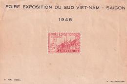 INDOCHINE - Bloc Souvenir Foire Expositions Du Sud Vietnam SAIGON 1948 (*) Sans Gomme - En L'état Voir Scan - Andere
