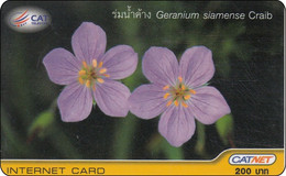 Thailand Phonecard Internet Catnet Geranium Flower 5003 - Tailandia
