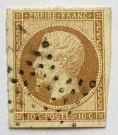YT 13B (°) Obl 1853-60 Napoléon III, 10c Bistre étoile Muette De Paris (côte 30 + 3 Euros) – Cata - 1853-1860 Napoleon III